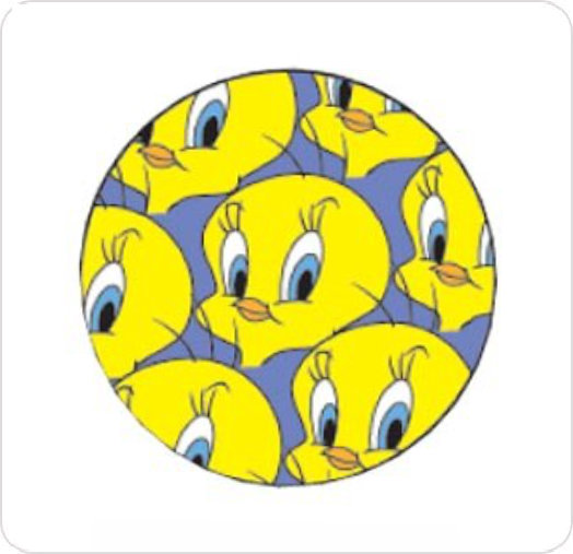 Bandage Kids  Round Tweety Bird Design