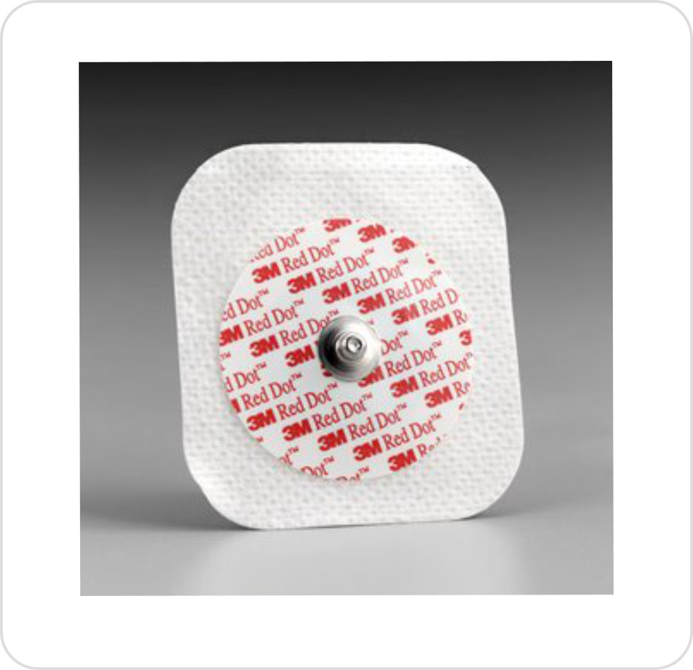 Electrode 2231 and 2271 Red Dot Soft Cloth Monitoring