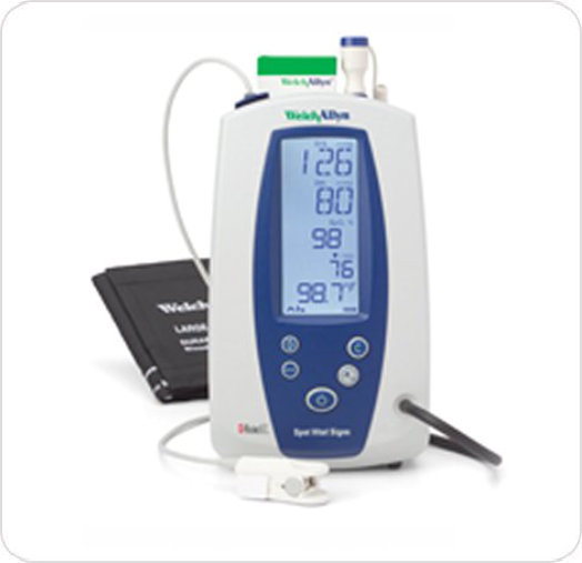 Monitor Vital Signs Welch Allyn w/Digital BP and Masimo Oximeter