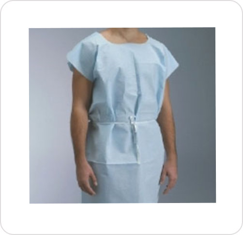 Exam Gown Regular Knee Length Blue 731