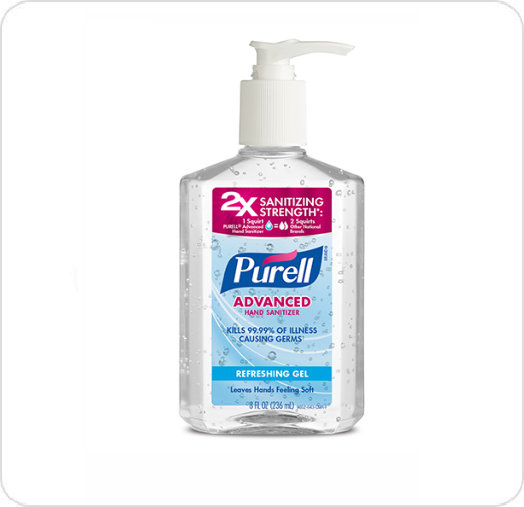 Sanitizer Hand Gel Purell 236Ml Pump Bottle