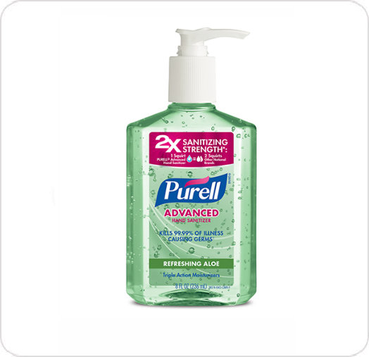 Sanitizer Hand Gel Purell with Aloe in Pump Bottle
