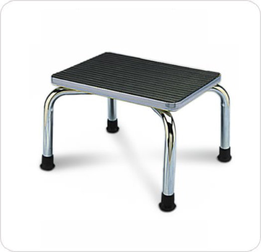Stepstool Chrome Non-Skid Top