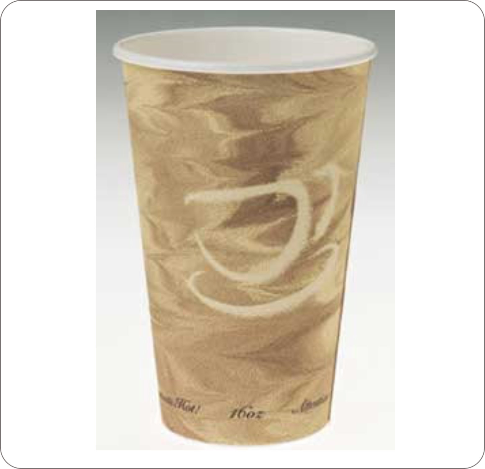 Cup 8Oz Hot Beverage Mistique Design