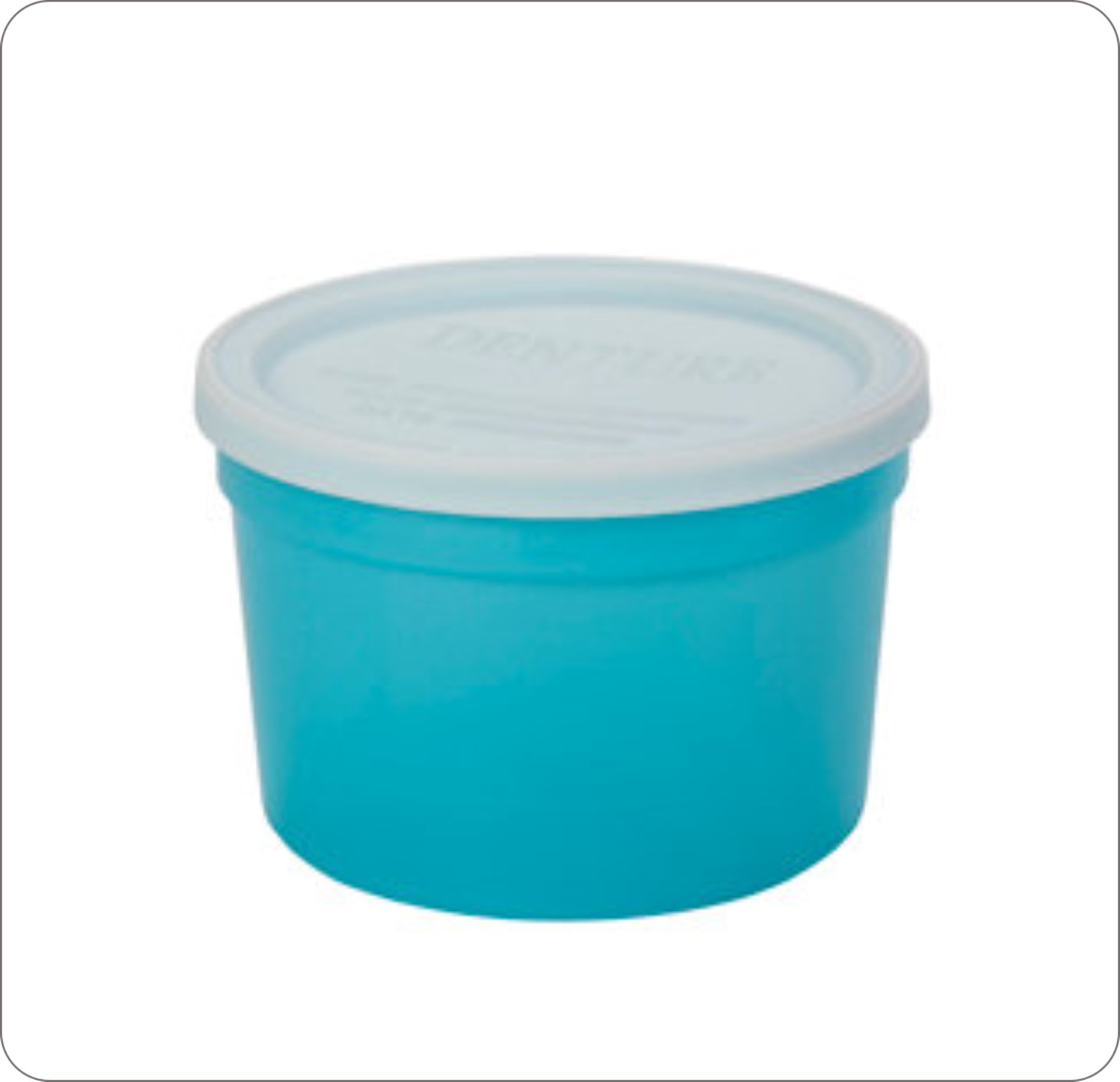 Cup Denture With Lid Disposable Plastic