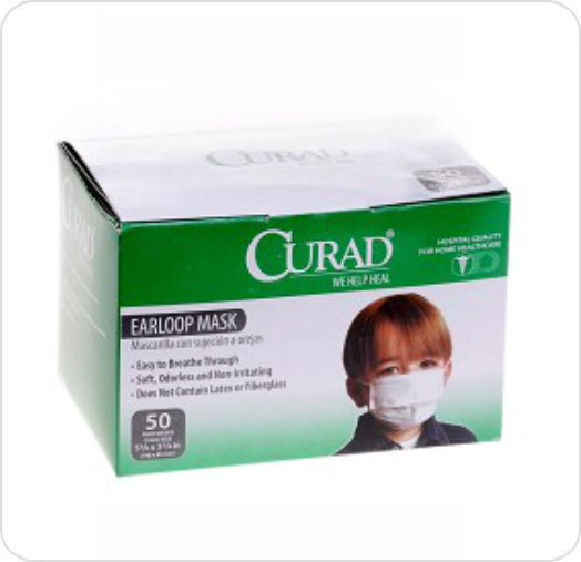 Mask Procedure Child Size Curad White