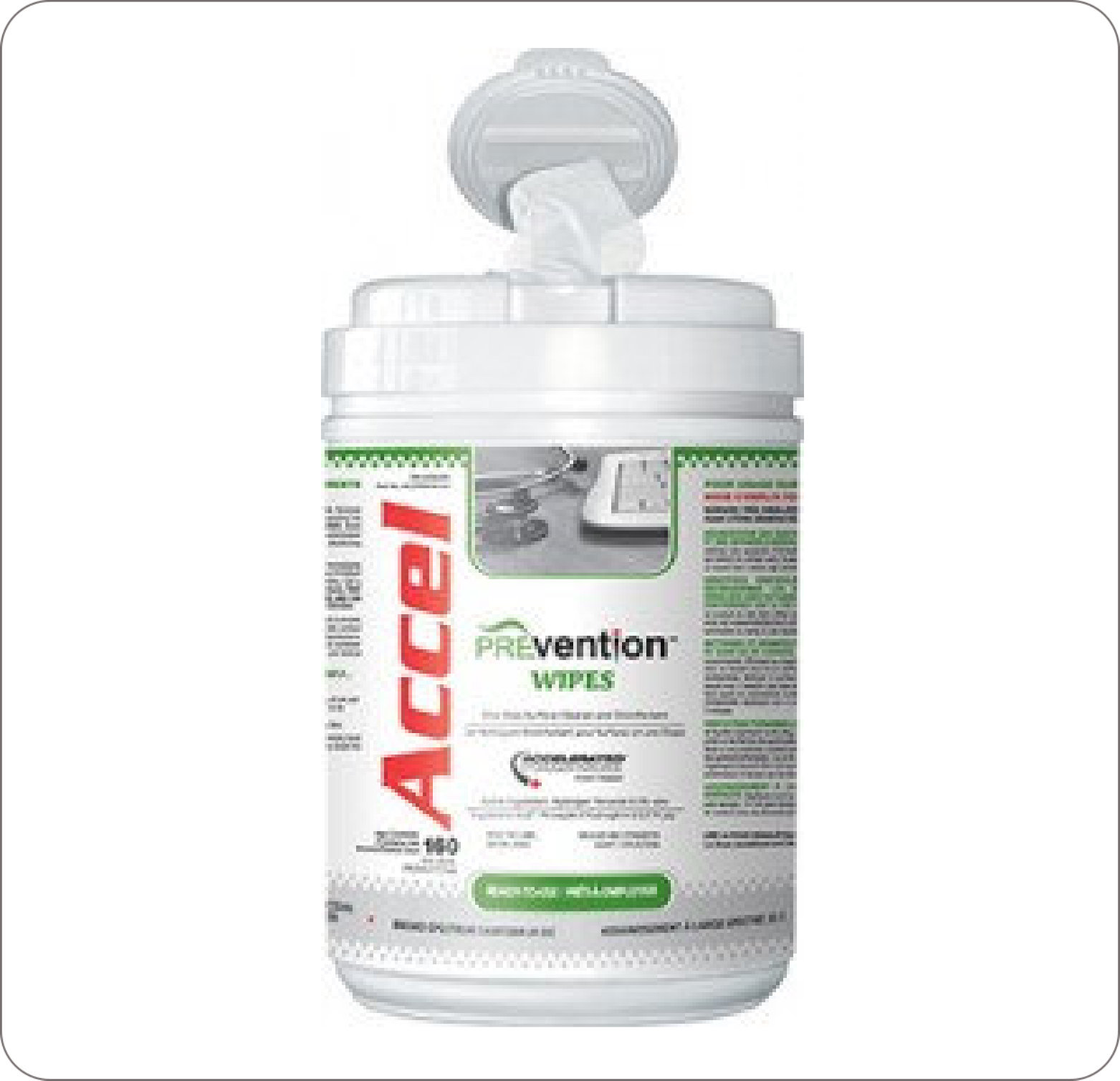 Wipes Surface Disinfectant Accel PREVention