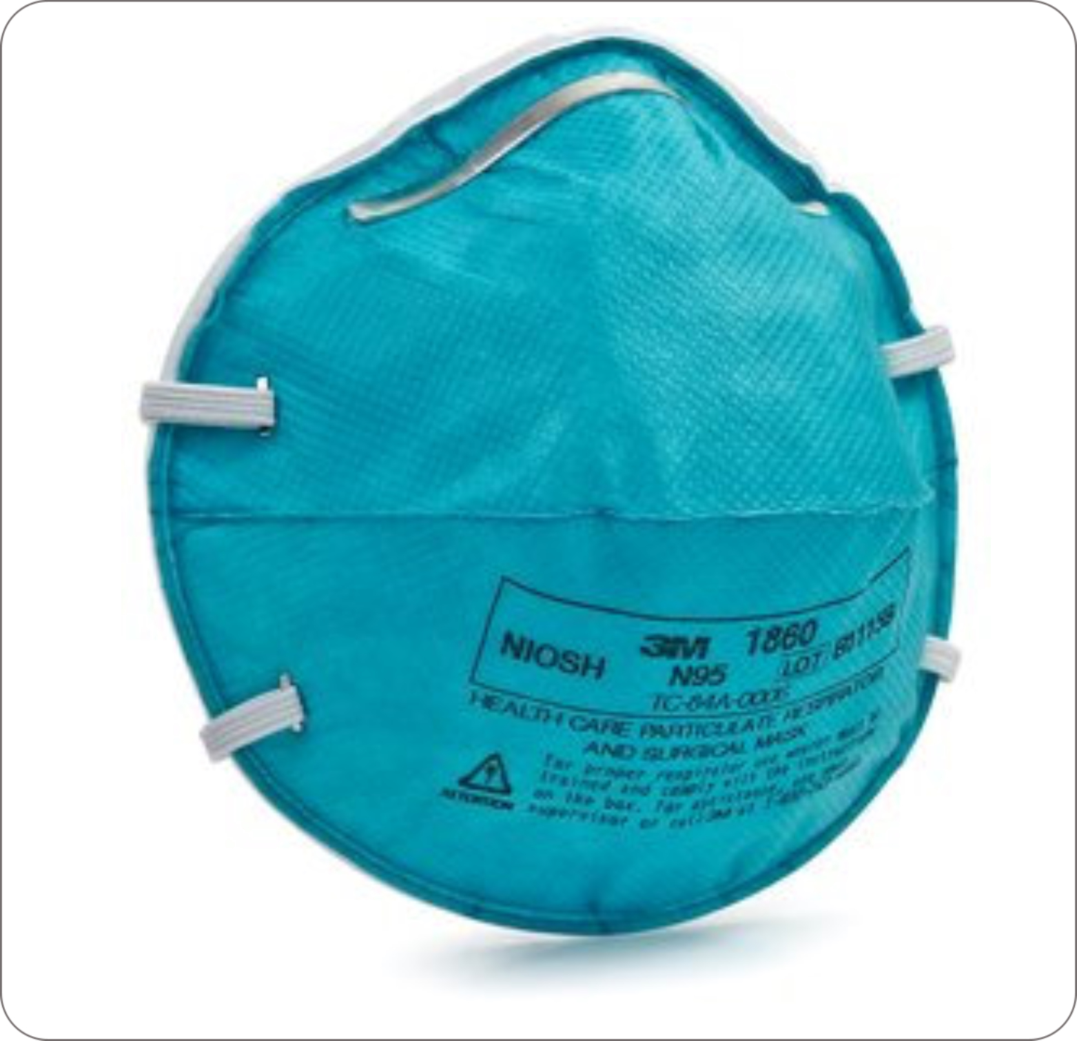 Mask Respirator N-95 Small Cone Molded Teal