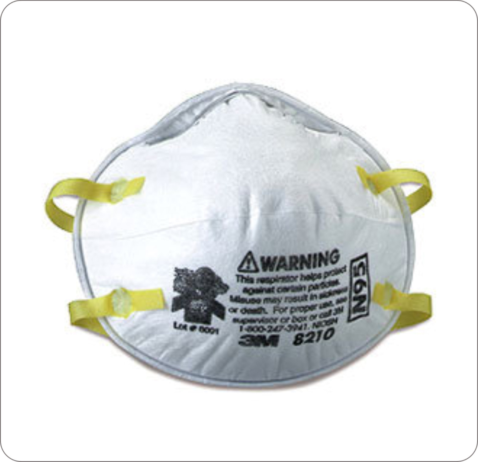 Mask Respirator N-95 Regular Cone Molded White
