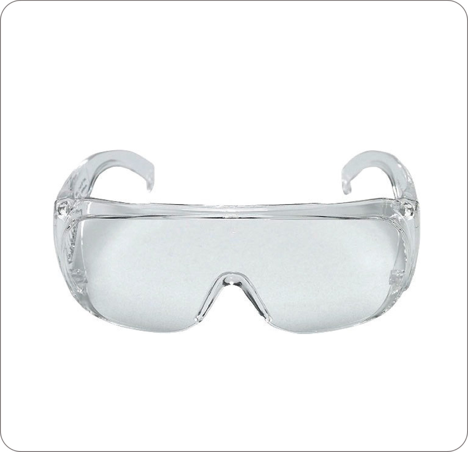 Eye Glass Protective Wrap-Around Frame With Lens