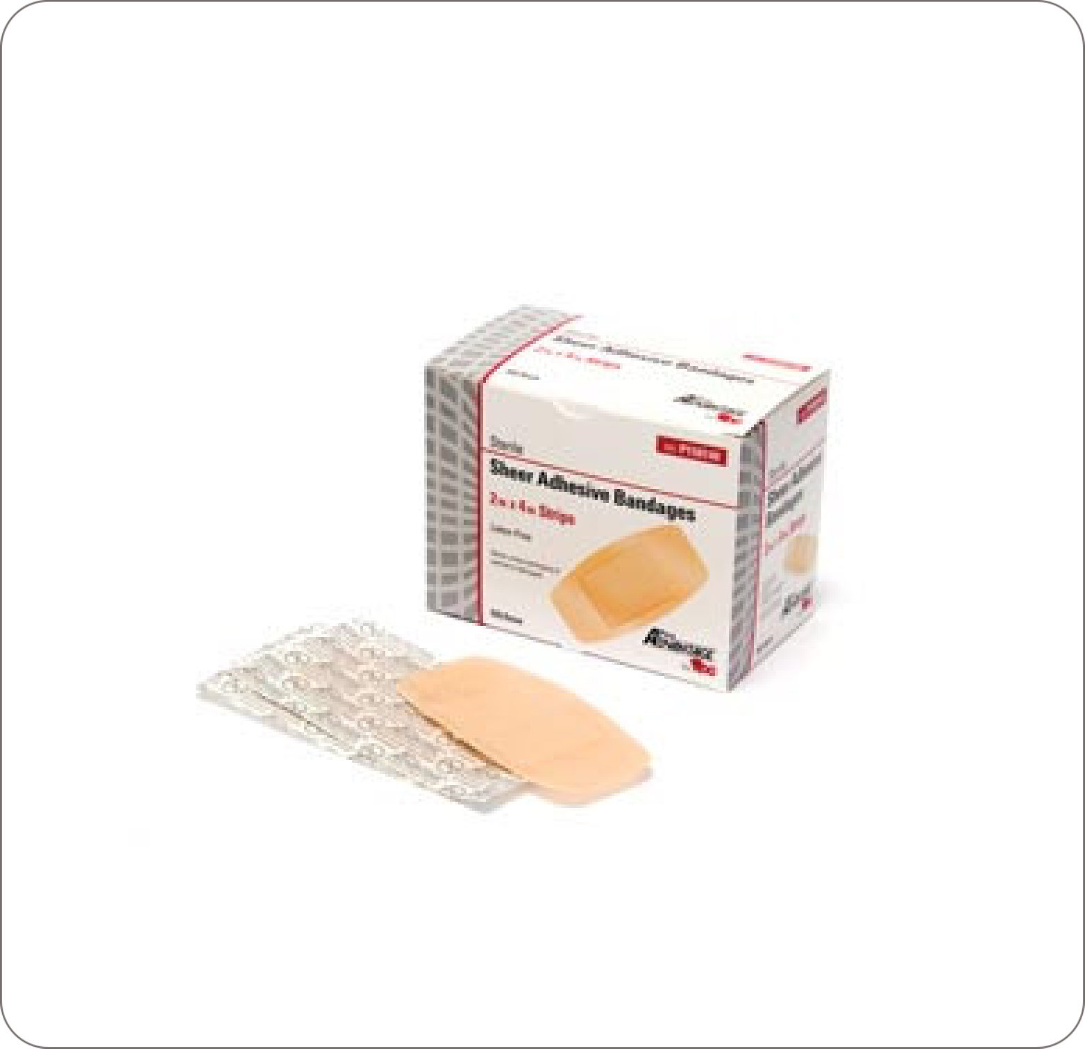 "Bandage Sheer Adhesive Strip  2""X4"""