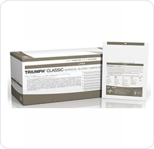 Glove Surgical Sterile Triump Classic Latex Powderfree