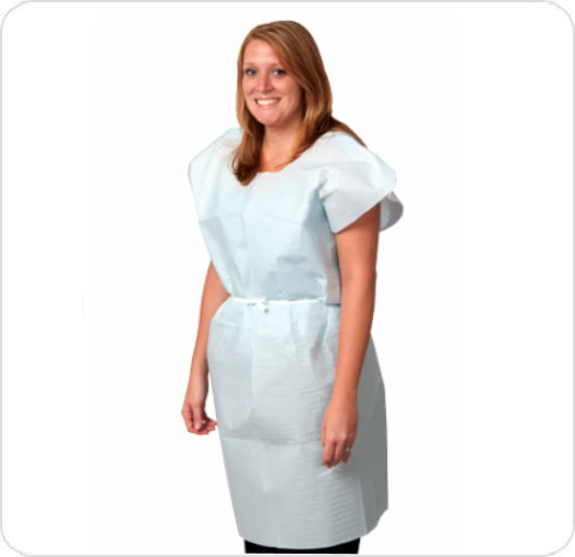 Exam Gown Regular Knee Length White P750333
