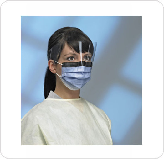 Mask Procedure Primagard W/Visor/No-Fog/Glare Indigo