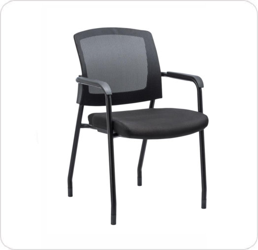 Armchair Aero Mesh Back Black Fabric Seat