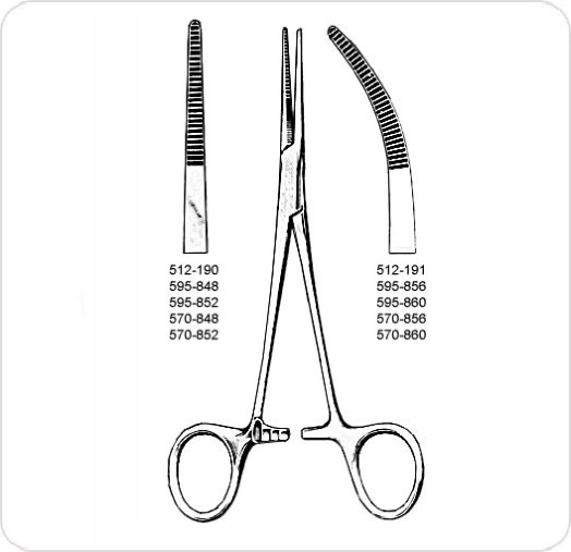Forceps Kelly Straight 6.5""