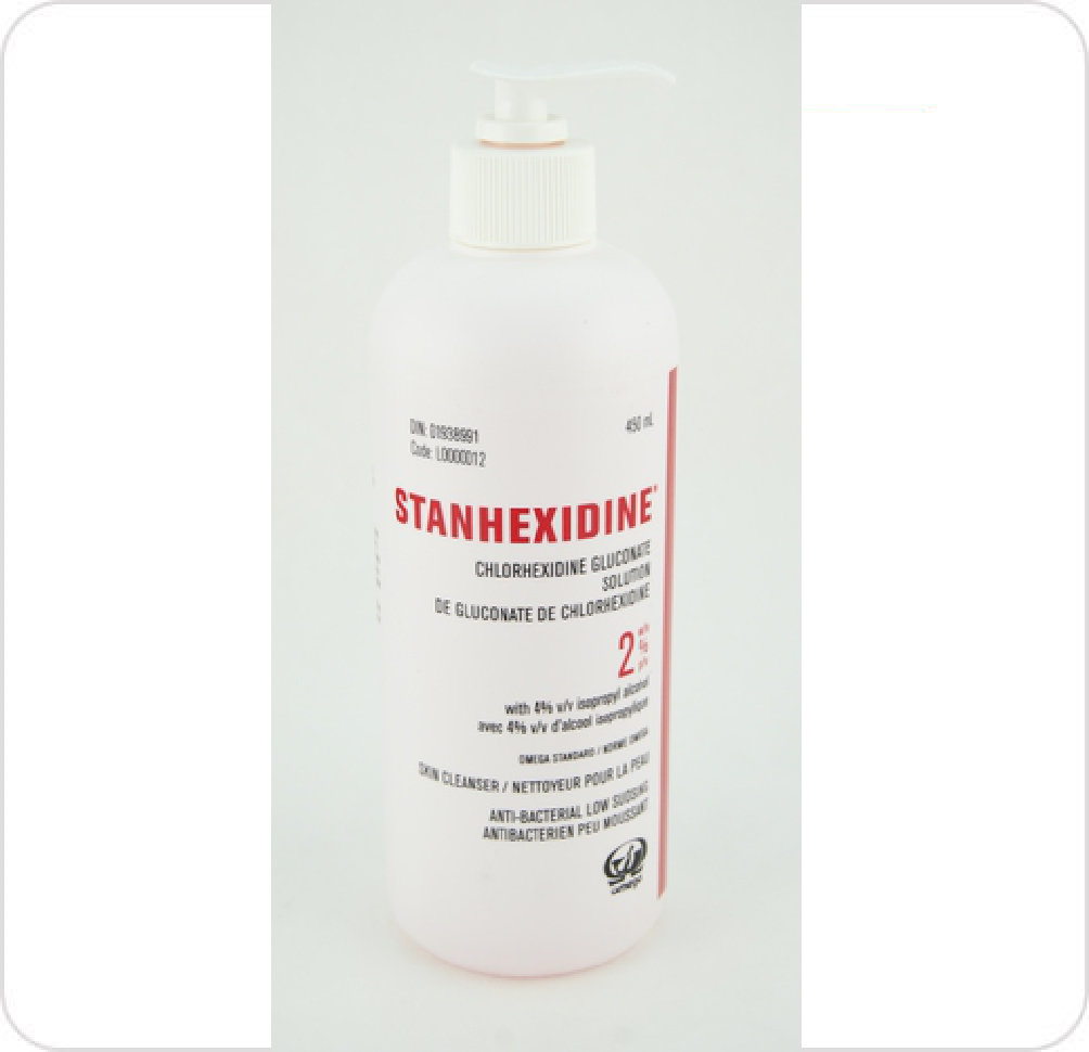 Cleanser Stanhexidine 2% CHG 4% Isopropyl Alcohol