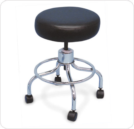 Stool Revolving With Plastic Swivel Casters