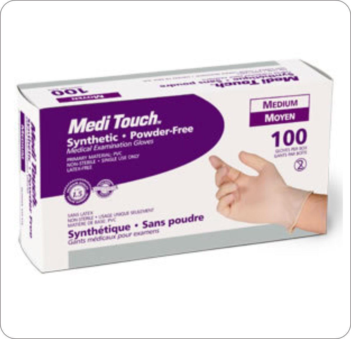 Gloves Synthetic Medi-Touch Powderfree Medium