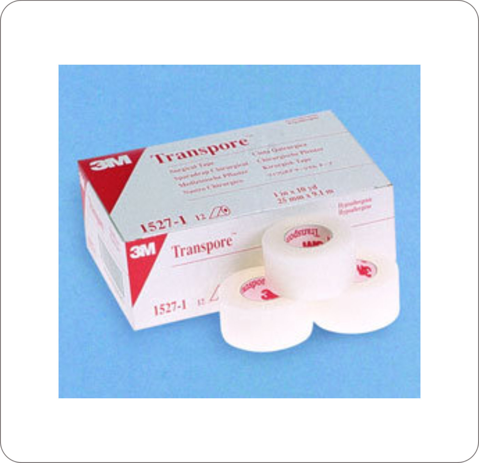 "Tape Adhesive Transpore 1/2"" X 10Yd Clear Porous"
