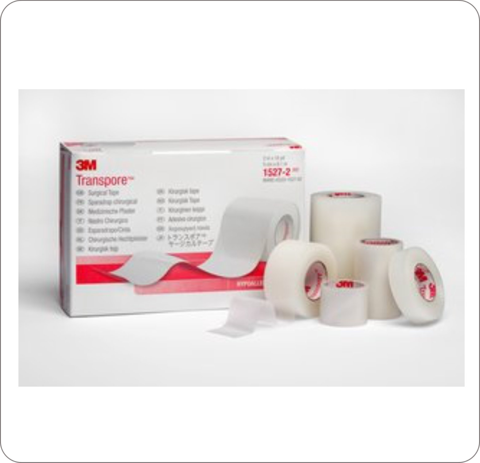 "Tape Adhesive Transpore 1"" X 10Yd Clear Porous"