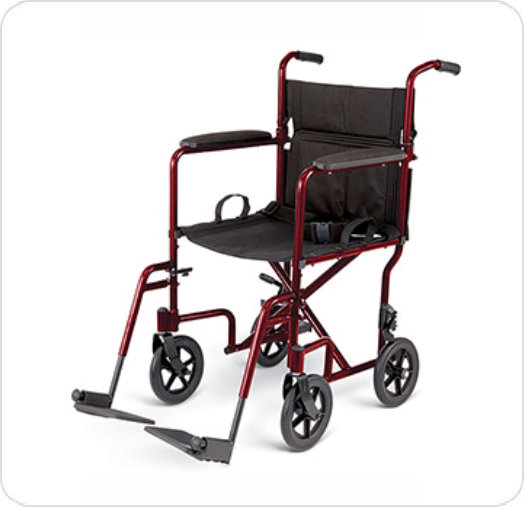 "Wheelchair Transport 8"" Wheeles"