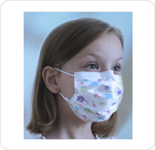 Mask Procedure Child W/Earloop Dinosaur Print