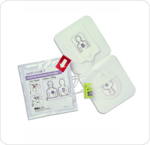 Electrode Pedi-Padz II for Zoll AED Pro/Plus Defibrillator