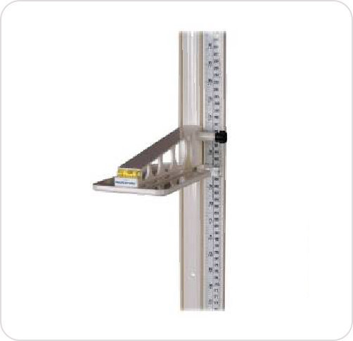 "Stadiometer Wall Mounted 24-84"" & 60-211Cm"